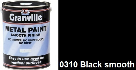 Granville Black Smooth paint - 500ml