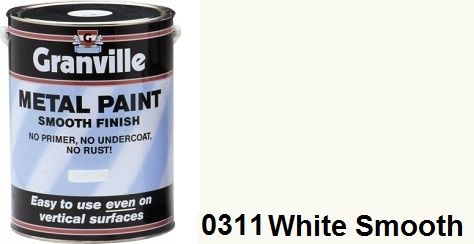Granville White Smooth paint - 500ml