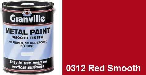 Granville Red Smooth paint - 500ml