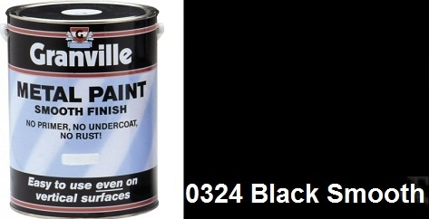 Granville Black Smooth Paint - 1 Litre