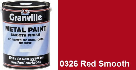 Granville Red Smooth paint - 1 Litre