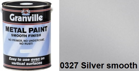 Granville Silver Smooth paint - 1 Litre