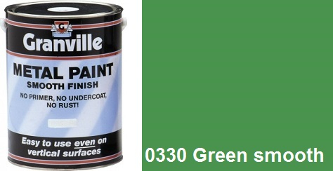 Granville 0330 Green Smooth paint - 1 Litre