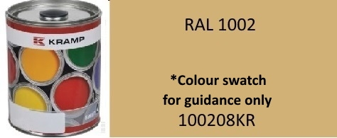 100208KR Kramp Sand Yellow paint RAL1002 1 Litre