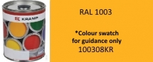 100308KR Kramp RAL 1003 Signal Yellow paint 1 Litre