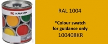 100408KR Kramp RAL 1004 Golden Yellow paint 1 Litre