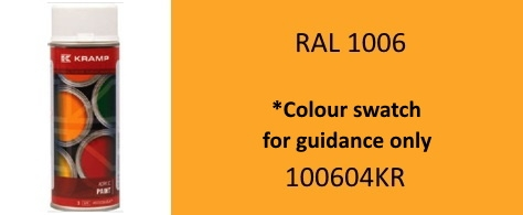 100604KR RAL 1006 Maize Yellow paint 400ML Aerosol
