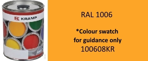 100608KR RAL 1006 Maize Yellow paint 1 Litre