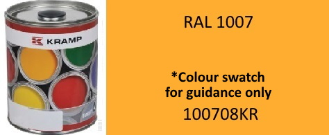 100708KR RAL1007 Daffodil Yellow paint 1 Litre
