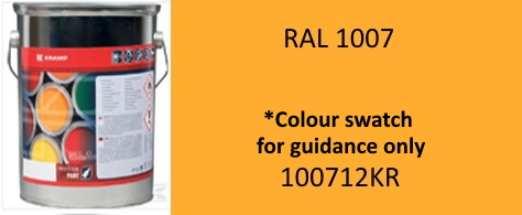 100712KR RAL1007 Daffodil Yellow paint 5 Litre