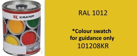 1201208KR Kramp RAL 1012 Lemon Yellow paint 1 Litre
