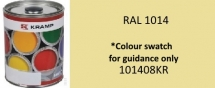 101408KR RAL 1014 Ivory White paint 1 Litre