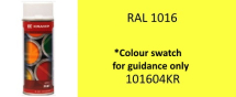 101604KR Sulphur Yellow Paint RAL 1016 400ml