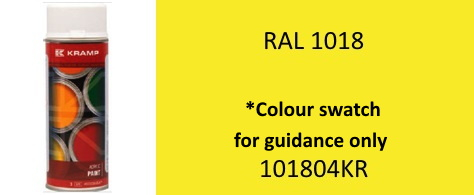 Kramp 101804KR RAL 1018 Zinc Yellow paint aerosol 400ml