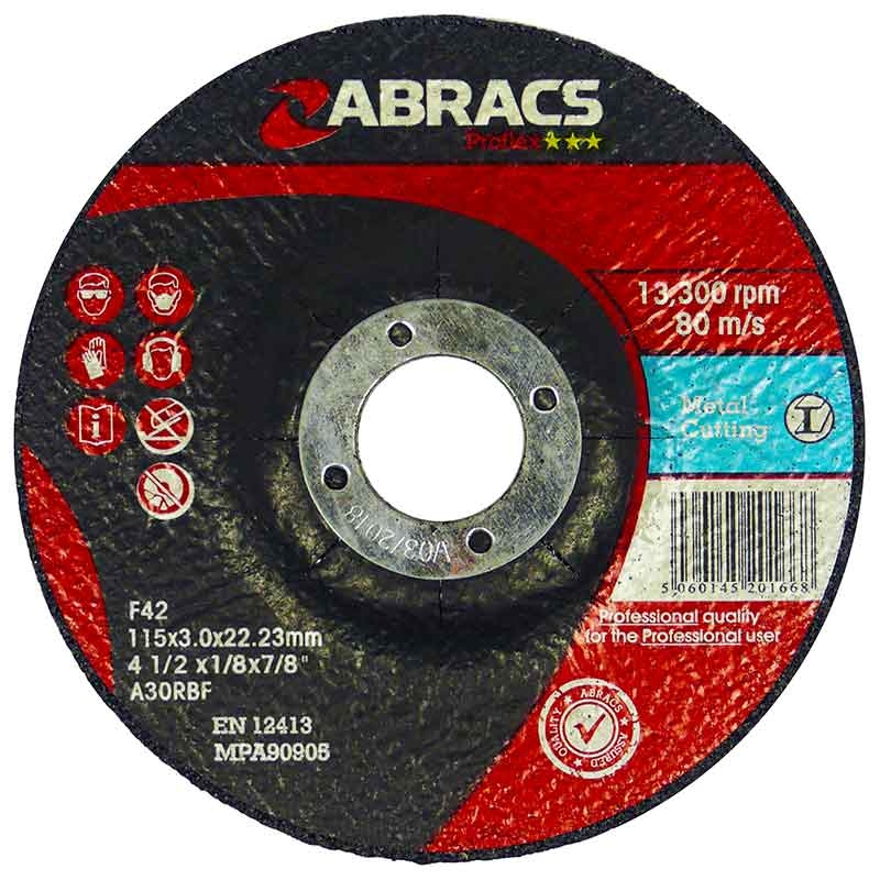 2607017165 Metal Cutting Disc 115mm Depressed Centre