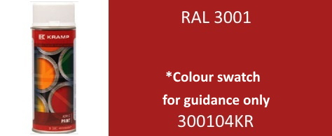 Kramp 300104KR RAL 3001 Signal Red paint 400ml