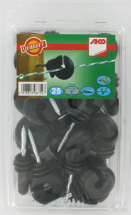 44314251 Electric Fence Ring Insulators with continuous support - Pack 25