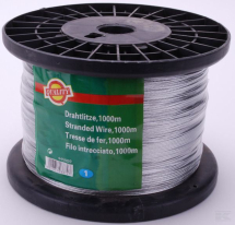 445009 Galvanised Steel Wire - 1000m for Electric fencing