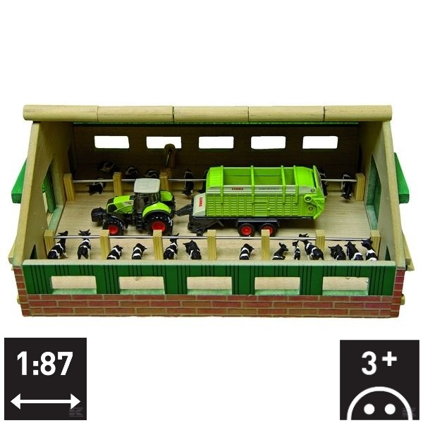 610492 Wooden cattle shed 1:87 scale
