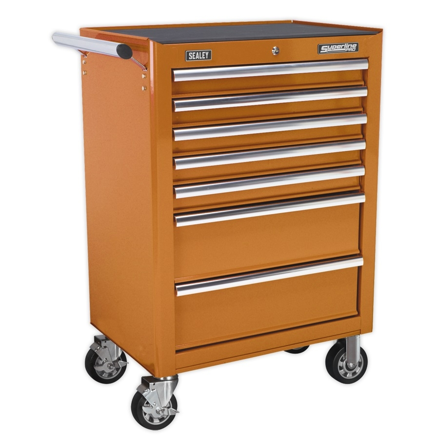 AP26479TOB Rollcab 7 Drawer with Ball Runners - ORANGE