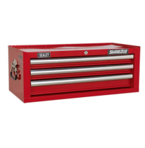 Mid-Box 3 Drawer With Ball Bearing Runners - Red