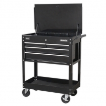 AP850MBC Heavy-Duty Mobile Tool & Parts Trolley With 4 Drawers