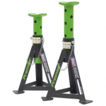 AS3G Sealey Axle Stands (Pair) 3 ton Green