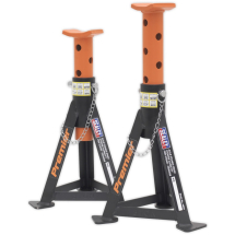AS30 Sealey Axle Stands (Pair) 3 ton Orange