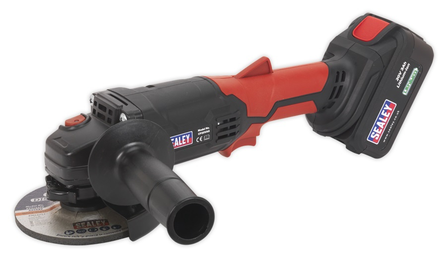 CP20VAG Sealey Cordless Angle Grinder 115mm 20v