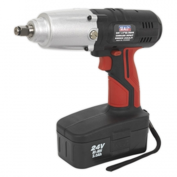 CP2400MH Sealey Cordless Impact Wrench 24v C/W 2nd 2Ah Battery FOC