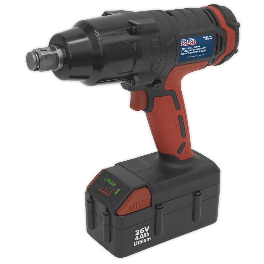 CP2634 Cordless Impact Wrench 26V Lithium-ion 3/4inchSq Drive 816Nm