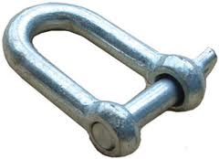 "Galv D Shackle 1/4"" 6mm"
