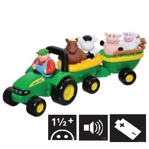 E42947 JD Tractor & trailer with sound, set