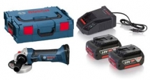 GWS18V Angle Grinder Body with 2 X 4 Ah Batteries and Charger with F.O.C Discs