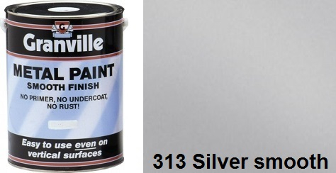 Granville Silver Smooth paint - 500ml