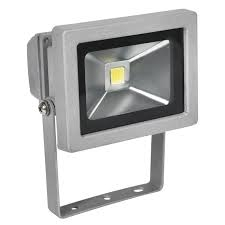 10W LED Chip Floodlight with wall bracket.