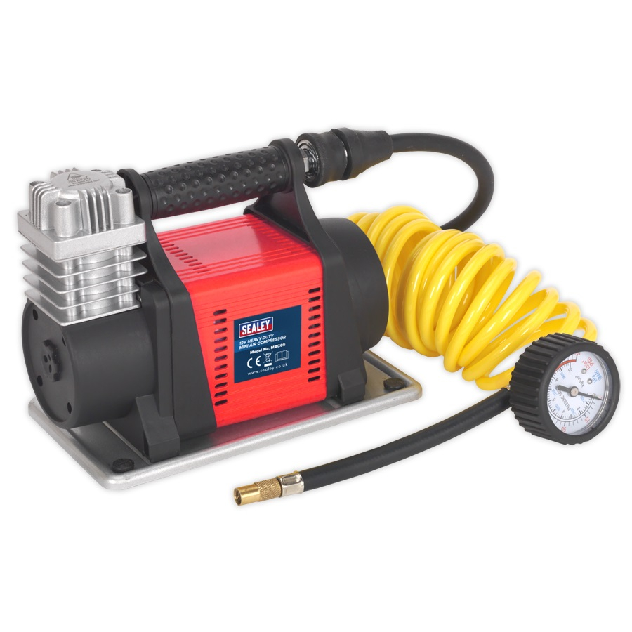 MAC05 Sealey Heavy Duty Mini Air Compressor 12V