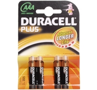 Duracell Size AAA - Pack 4