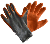 Orange Grip Glove Size 8 Med