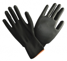 PTI Black Poly Gloves Size 8 Medium