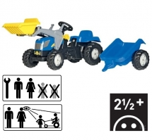 R02392 Rollykid New Holland T7040 with Loader and Trailer