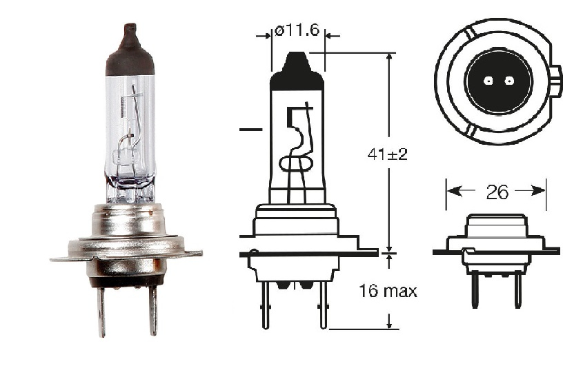 R477 Bulb Headlight H7