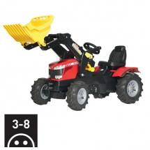 R61114 MF 8650 w. front loader & pneumatic tyres