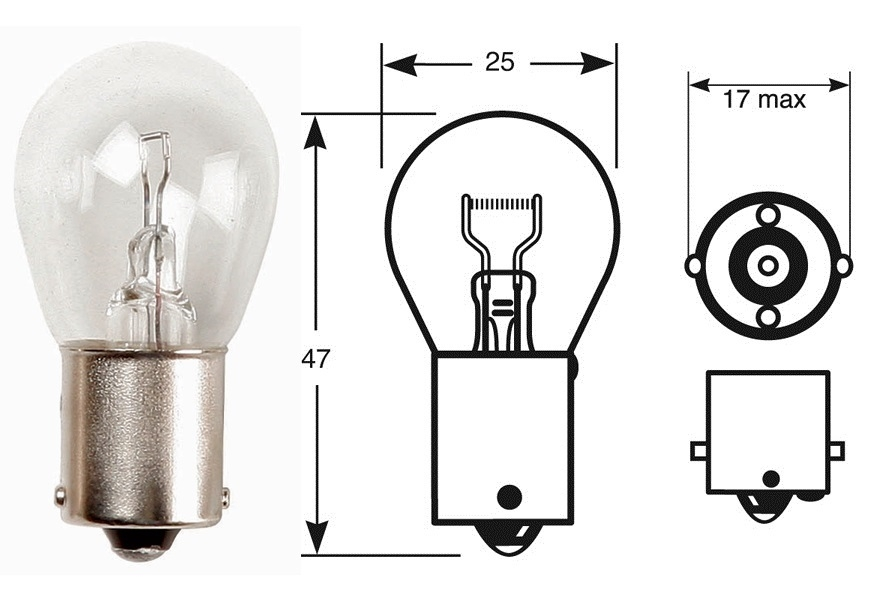 RB382 - Bulb 12V 21W Stop / Flasher
