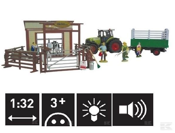 RN75004 Tractor Claas Farm Set 1:32 scale