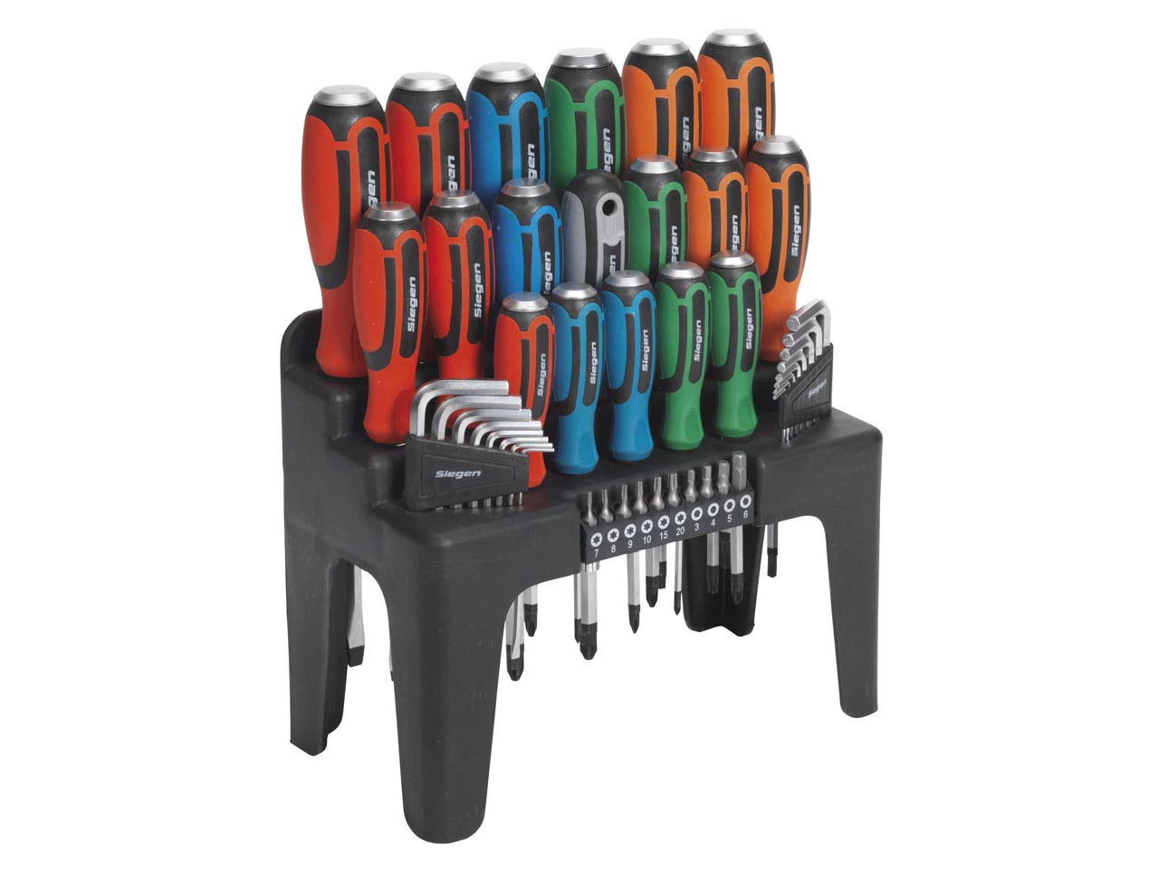S01106 Hammer-Thru Screwdriver, Hex Key & Bit Set 44pc