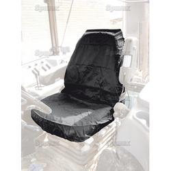 Seat Cover Large Tractor Black