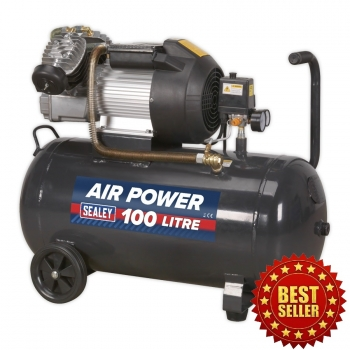 SAC10030VE Compressor 100ltr V-Twin Direct drive