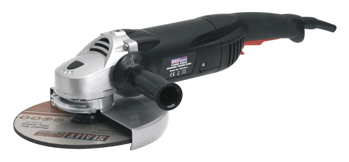 SG2303 Sealey Angle Grinder 9Inch / 230mm 2000W/230V