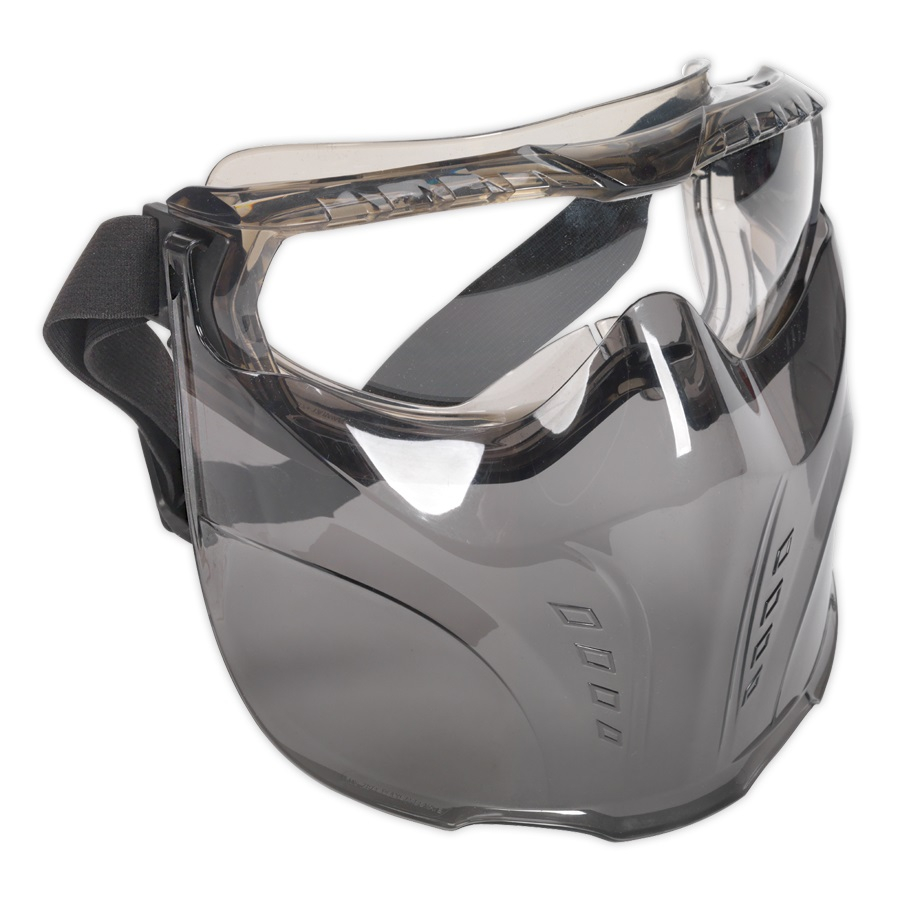 SSP76 Sealey Safety Googles with detachable clear face shield